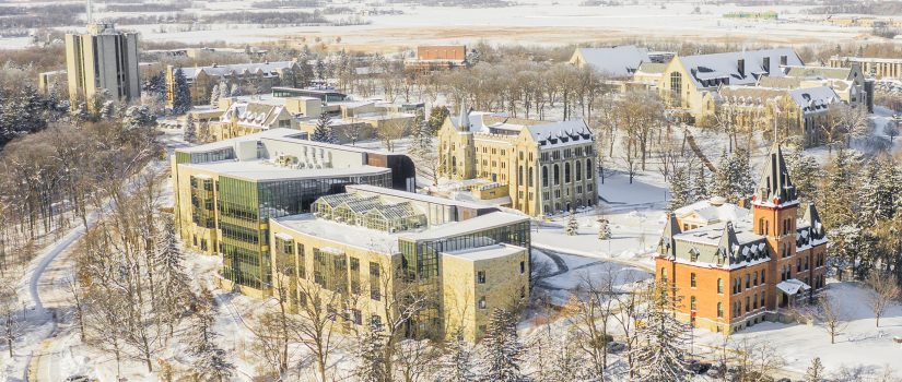 St. Olaf College in the snow.